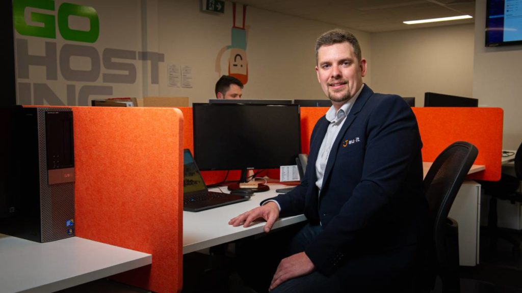 Managing director of AU IT, Alan Dawe, said his business had been flat strap trying to get home offices and IT networks set up for Canberra businesses. Picture: Elesa Kurtz